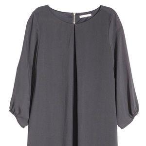 H&M Gray Chiffon Shirt Dress